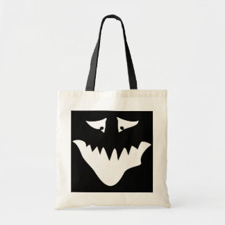 Monster Scary Face in White Bags