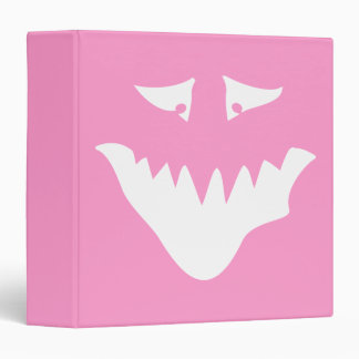 Monster Scary Face, in White. Binder