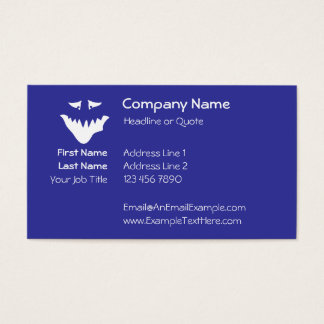 Monster Scary Face, in White. Business Card