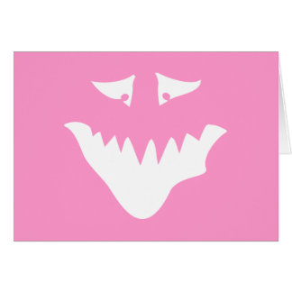 Monster Scary Face, in White. Card