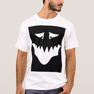 Monster Scary Face, in White. T-Shirt