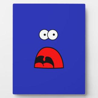 Monster - scream and seizure photo plaque