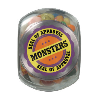 Monster Seal of Approval Jelly Belly Candy Jar