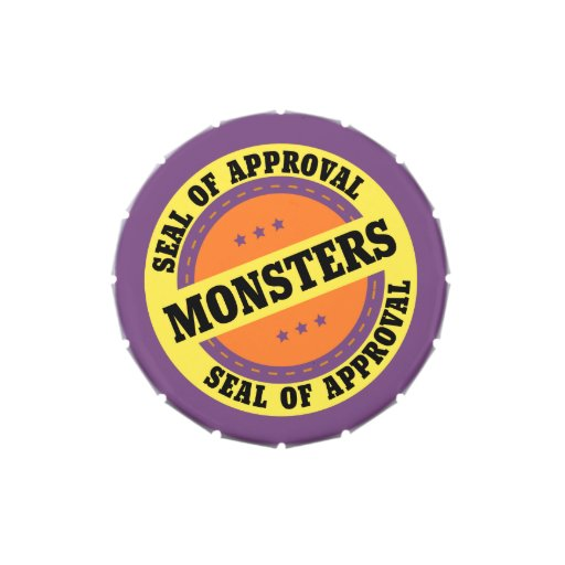 Monster Seal of Approval Jelly Belly Tins