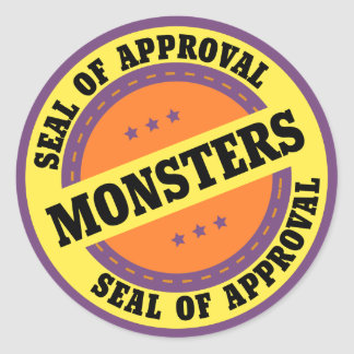 Monster Seal of Approval Stickers