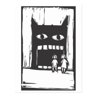 Monster Shadow Postcard