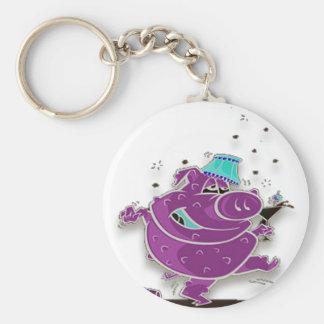 """Monster """"Shay"""" Basic Round Button Keychain"""
