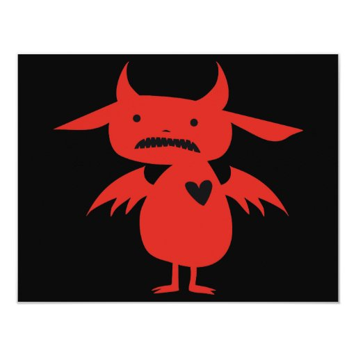 Monster Silhouette 4.25x5.5 Paper Invitation Card