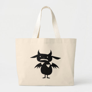 Monster Silhouette Large Tote Bag