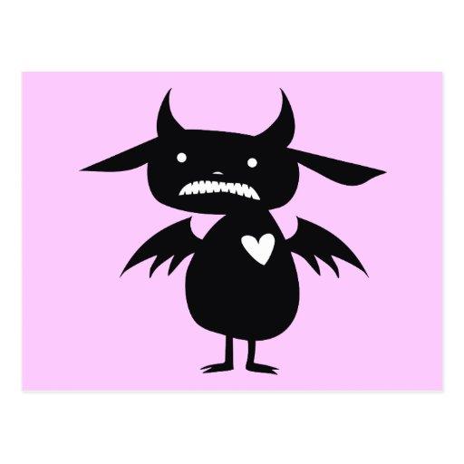 Monster Silhouette Postcard