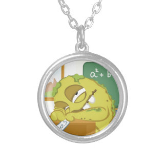 Monster SNOERG from my monster series Round Pendant Necklace