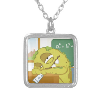Monster SNOERG from my monster series Square Pendant Necklace