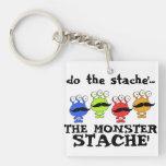 monster stache mash parody acrylic keychains