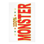 Monster Star Tag Stationery Paper