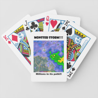 MONSTER STORM!!! BICYCLE PLAYING CARDS