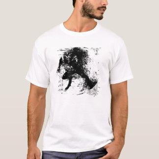 Monster Tee - Black Ink Grunge Werewolf