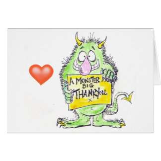 Monster Thank You Greeting Card