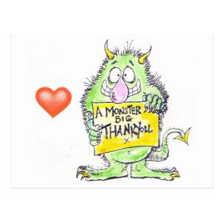 Monster Thank You Postcard