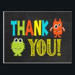 "Monster Thank You Postcard<br><div class=""desc"">Matches our monster invitation set</div>"