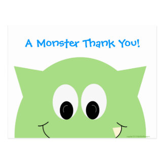 Monster Thank You Postcard