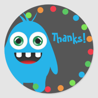 Monster Thank You Stickers