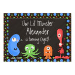 Monster Theme III Birthday Party Invitations