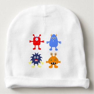 Monster Themed Baby's Cotton Rib Infant Hat
