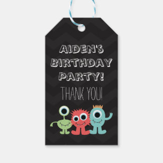 Monster Themed Birthday Party Tags