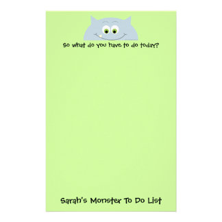 Monster To Do List Stationery Paper