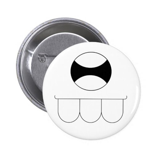 Monster Toof 2 Inch Round Button