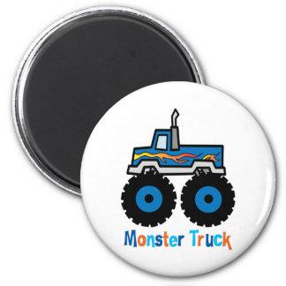 Monster Truck 2 Inch Round Magnet