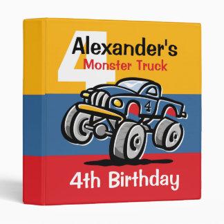 Monster Truck 4th Birthday Binders