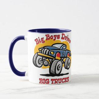 Monster Truck 4th Birthday Mug