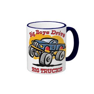 Monster Truck 4th Birthday Ringer Mug