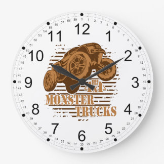 Monster Truck 4x4 Off Road Large Clock