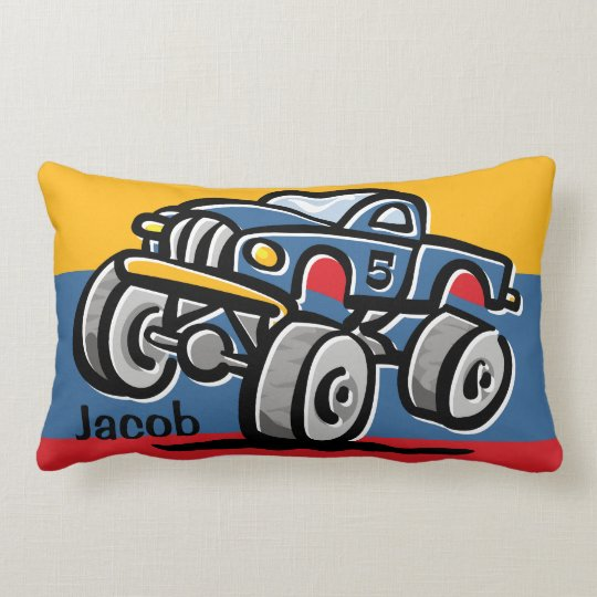 Monster Truck 5th Birthday Lumbar Pillow