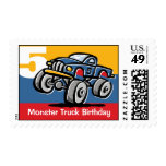 Monster Truck 5th Birthday Postage Stamp