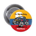 Monster Truck 6th Birthday 2 Inch Round Button