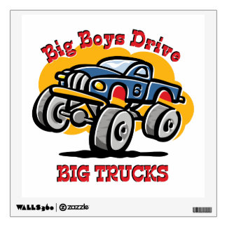 Monster Truck 6th Birthday Wall Decor