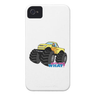 Monster truck - amarillo Case-Mate iPhone 4 protectores