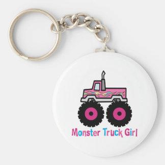 Monster Truck Basic Round Button Keychain