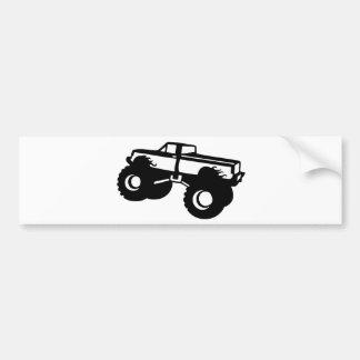 monster truck big car pick up bumper sticker