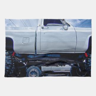 monster truck blanco toalla de mano