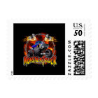 Monster Truck blue on Fire Postage