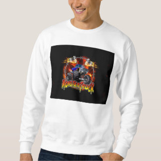 Monster Truck blue on Fire Sweatshirt
