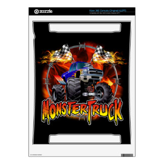 Monster Truck blue on Fire Xbox 360 Decal