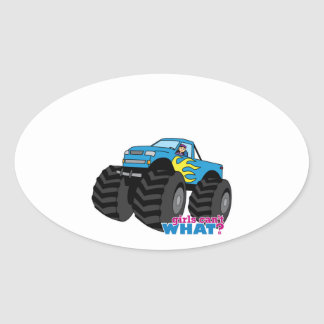 Monster Truck - Blue Oval Sticker