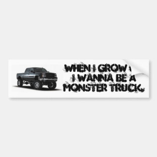 monster truck bumper sticker