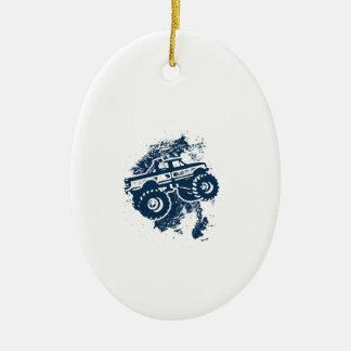 Monster Truck Ceramic Ornament
