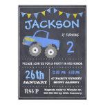 Monster Truck Chalkboard Birthday Invitation 11 Cm X 16 Cm Invitation Card